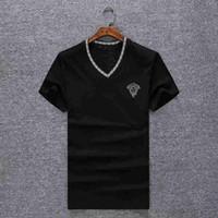 Wholesale types shirt men - Modal Slim-type Cotton V-neck Casual Pullover Superior Quality Short Sleeve Men's Top Design Couple T Shirt