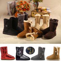 Wholesale borders australia online - New Button WGG Women s Australia Classic Designer Ankle Knee Short Half Boots Women winter snow boots Sparkles Bling Boot