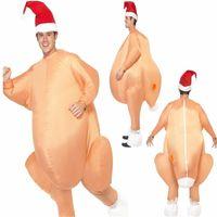 trajes de ação de graças crianças venda por atacado-Traje de Peru inflável Dia de Ação de Graças de Natal Holloween Cosplay Trajes de Festa Roupas para Crianças Adultos 170 cm NNA462