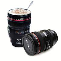 fizz drink dispenser großhandel-200 stücke kreative kamera objektiv kaffeetasse canons cup 2 generation von len tassen für canon fans fotografie neuheit geschenke mit kleinkasten