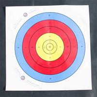 ingrosso frecce di tiro con l'arco-Full Ring Tiro con l'arco Target Paper Bow And Arrow Outdoor Special Shooting Training Papers Accessori tattici creativi 0 45wk jj