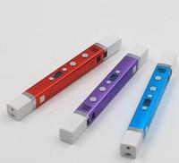 impressões led venda por atacado-2018 Nova Magia Terceira Geração Colorido Impressora 3D Pen Canetas de Desenho Caneta de Impressão 3D Tela LED Melhor Presente Para As Crianças de Boa Qualidade