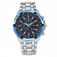 круглые мужские часы оптовых-New Alloy Watch Round Dial Analog Quartz Watch Men Watches Luxury Male Clock Business Mens Wrist Hodinky Relogio Masculino