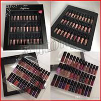 nyx lip lingerie toptan satış-NYX YUMUŞAK MAT LIP KREMI 36 ADET Set sıvı Ruj Dudak Parlatıcısı Mat 30 renk Iç Çamaşırı Vault Dudak Makyaj