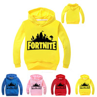 Wholesale old clothing brands - Fortnite Kids Hoodies Sweatshirts 4 colors 2-11 years old Kids Cotton Pullover Long sleeved T shirt kids clothes LA810