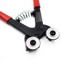 kalem tekerlekleri toptan satış-Görkemli 8 '' Lekeli Tekerlekli Mozaik Cam Seramik Kesici Makası Kiremit Pense Aracı