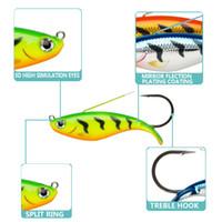 atraer los ojos al por mayor-5 Unids / lote 3D Eyes Lead Fishing Lures Con Señuelos de Pesca Duro Único Gancho Cebos cebo artificial plantilla wobblers caucho 50mm / 12.8g