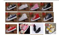 sapata baixa da menina venda por atacado-Nova marca crianças sapatos de lona moda alta - baixa sapatos meninos e meninas esportes lona crianças sapatos