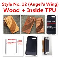 iphone 5s covers wood Australia - Style No. 12 (Angel's Wing ) Unique Stylish Classy Snap-On Real Wood Wooden Bamboo TPU Back Cover Case for iPhone X 8 7 6S 6 Plus 5 5S SE