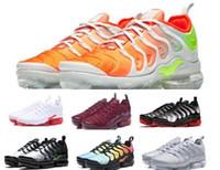 Wholesale neon casual shoes - Vapormax Tn Plus Running Shoes Sneakers Mens Women Triple Grey Cargo Neon VM Casual Sports Canvas Tennis Training Athletic Zapatillas Shoe