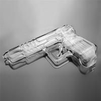 pistolas de cera al por mayor-Tubos de agua de vidrio Pistola de fumar Pipa de agua Bong Plataforma petrolera Pluma de cera Hierba seca Vap pistola de vidrio bongs pipa de fumar plataformas petroleras dab