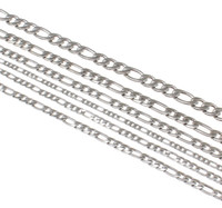 Wholesale Womens Silver Long Necklaces - whole sale2017 Silver Color Rope Link Stainless Steel Necklace Womens Mens Chain Boys Girls Dropship Long Necklace Jewelry 21inch
