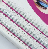 Wholesale long feather eyelashes - Wholesale Volume 3D Eyelash Extensions 0.07 Thickness Hair Mink Strip Eyelashes Individual Lashes Fans Lash Natural Style