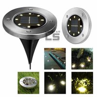 Wholesale Garden Roads - Super Bright 8 LEDs Solar Powered Waterproof Light for Home Yard Driveway Lawn Road Ground Deck Garden Pathway