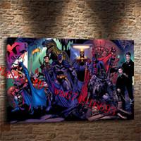 Wholesale Batman Arts - DC SUPERHERO BATMAN HARLEY QUINN , Canvas Pieces Home Decor HD Printed Modern Art Painting on Canvas (Unframed Framed)