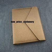 ingrosso regalo di ordine del giorno-Busta da viaggio in pelle magnetica Golden Notebook Diario giallo Agenda Ufficio di lusso Forniture per notebook Quaderno di articoli da regalo personalizzati