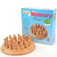 Wholesale wisdom kids toys - Memory Chess Children Kid Toy Woodiness Beneficial Wisdom Intelligence Desktop Game Development Parenting Train High Quality 15 5mz V