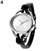 Wholesale women s watches for sale - Top Brand Luxury Women s Fashion Oval Slim Faux Leather Band Analog Quartz Bracelet Wrist Watch