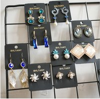 kristallperle shamballa großhandel-Shamballa Kristallkugel Doppelseitiger Bolzenohrring Groß Und Klein Zwei Perlenschmuck Damenmode Ohrstecker