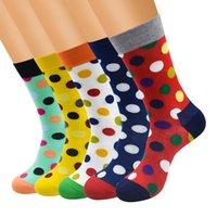 männer socken korea großhandel-Bunte Punktmode Männer Socken Frauen Streifen Korea Socken Baumwolle lang brandneue Qualität Liebhaber Frauen Socken Herren Socke