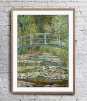 ingrosso vernice stagno-The Water Lily Pond Pittura ad olio Claude Monet Art Poster Decorazione della parete Immagini Art Print Home Decor Poster Unframe 16 24 36 47 pollici