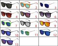 gafas de sol de terciopelo al por mayor-Señoras de lujo Ojo de gato Gafas de sol Mujeres Diseñador de la marca Erika Velvet Frame uv400 gafas oculos de sol feminina con caja y estuches marrones