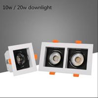 downlights carrés à montage en surface achat en gros de-1pcs économie d'énergie LED Downlights 10w 20w monté en surface dimmable LED plafonniers Lampes Spot Light rotation carrée AC85-265V