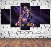Wholesale Best Abstract Oil Paintings - The Best Dunk In History 5 Pieces Canvas Prints Wall Art Oil Painting Home Decor  (Unframed Framed)