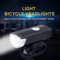 luzes moto led de alta potência venda por atacado-600LM Luz Da Bicicleta Recarregável LED Frente Ciclismo Bicicleta Lâmpada de Alta Potência Cabeça Lanterna de Aviso de Iluminação