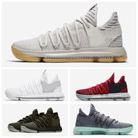 Wholesale Basketball Player Shoes - New Men's Zoom KD10 Basketball Shoes Vintage Fashion Streamline Design Basketball Players' High Quality Sports Shoes