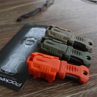 ücretsiz kredi kartı bıçağı toptan satış-Şerit Raptiye Katlanabilir Küçük Bıçaklar Molle Sistemi Edc Aracı Mini Bıçak Cep Shiv Adaptörü Üzerinde El Aletleri 3 5zt ...