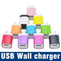 telefones dos eua venda por atacado-Carregador de parede Adaptador De Viagem 5 V 1A Colorido EUA Plug EUA Carregador USB Para Android Telefone Tablet PC Universal EUA Versão