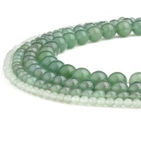 Wholesale gold aventurine resale online - Natural Stone Green Aventurine Beads Gemstone Gold Sand Agate Round Loose Beads for DIY Bracelet Jewelry Making Strand Inches