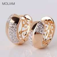 Wholesale hoop crystal earings - whole saleMOLIAM Brand New Designer Hoop Earrings For Women Fashion Jewelry AAA Cubic Zirconia Crystal Earings High Quality MLE116