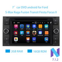 Wholesale Stereo Ford Fiesta - 7 inches Pure Android 7.1.2 Car DVD Quad Core 2GB RAM 16G ROM 1024*600 Car Raio for FORD S-Max Kuga Fusion Transit Fiesta Focus II