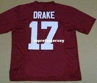 jersey china fábrica venda por atacado-Factory Outlet-Kenyan Drake # 17 faculdade Alabama Crimson Tide Futebol jerseys mens frete grátis china Atacado barato autêntico esportes