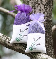 Wholesale Diy Organza Bags - Purple Cotton Organza Lavender Sachets DIY Dried Flower Sweet Bursa Wardrobe Mouldproof Fume Gift Bag wen5035