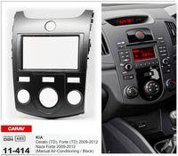 fascia de radio de voiture achat en gros de-CARAV 11-414 Top Qualité Car Radio Fascia pour KIA Cerato (TD), Forte (TD), Naza Forte (Climatisation Manuelle) (Noir)