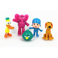 Wholesale pocoyo gifts resale online - 5pcs Cute Pocoyo Zinkia Plastic PVC Cartoon Action Figure Model Dolls Gift Ornament For Decoration Doll Kids Toys hc UU