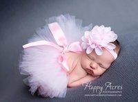 hilo tutu al por mayor-Diseñador de moda recién nacido niño bebé niña faldas tutú vestidos diadema para niños traje disfraz hilo lindo 8 colores elegir