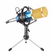 aufzeichnungsrahmen großhandel-BM800 kondensator kalaok mikrofon weizenband stoßfest rahmenradio singen aufnahme KTV mobile computer universal geschenk