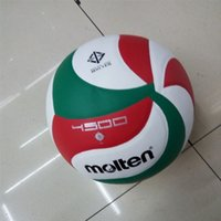 Wholesale beach volleyball ball online - Splice Color Outdoor And Indoor Sport Training Competition PU Soft Volleyball Balls Elastic Beach Handballs wz W