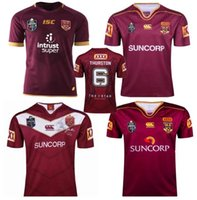 Wholesale maroon white - 2018 NRL National Rugby League Queensland 2018 QLD Maroons Malou Rugby jersey 2019 QLD MAROONS STATE OF ORIGIN Rugby jersey