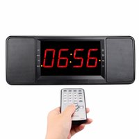 ingrosso doppia radio remota-Telecomando 5W Dual Alarm Clock Comodino Radio FM Altoparlante Bluetooth Lossless Music Player Vivavoce Chiamata Radio Y4369A