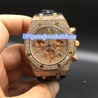 data da concha venda por atacado-Marca de luxo dos homens Relógios subiu de ouro diamante branco shell pulseira de couro preto data automática cronógrafo relógios de quartzo frete grátis