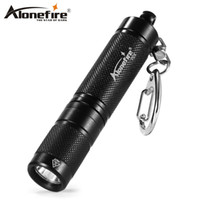 Wholesale ring work light - AloneFire P24 LED Flashlight Mini Keychain Flashlight Torch Light Lumens LED Outdoor Flashlights tool key ring