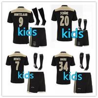 Wholesale fc uniforms - Ajax kids Soccer Jersey 18 19 Ajax FC ADULT kit Jerseys away KITS 2018 2019 Customized KLAASSEN NOURI football uniform FULL SET WITH SOCKS