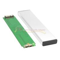 hdd laptop sabit disk toptan satış-CY USB 3.0 ila 12 + 6pin SSD HDD Sabit Disk Kartuş Sürücü 2010 2011 Laptop için Hava A1369 A1370