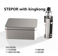 Wholesale pen cool - Hecig STEPOR With Kingkong Tank Starter Kit Oil Vaporizer E-Cigarette Kits 3300mAh Battery 50w Mod Vape Pen Cool Design Kits