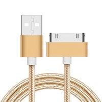 kablo usb pimleri toptan satış-S-Mart Usb Apple Apple Iphone için 4 Kablo 4 4 s Şarj Sync 30 Pin Ipad 2 3 Ipod perakende çantası ile